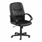 Lorell Chadwick Series Leather Managerial Mid Back Chair [LLR60121-FS-SP]