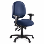Lorell Chair - High -Performance - 27 -1/4''W x 25 -1/4''L x 41 -1/2H - Blue [LLR60536-FS-SP]