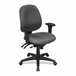 Lorell Chair - High -Performance - 27 -1/4''W x 25 -1/4''L x 41 -1/2''H - Gray [LLR60535-FS-SP]