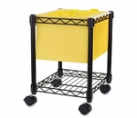 Lorell Compact Mobile Cart - 15 -1/2''W x 14''L x 19 -1/2''H - Black [LLR62950-FS-SP]
