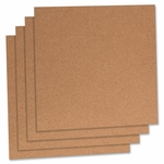 Lorell Cork Panels - 12''H x 12''W - 4/PK - Natural [LLR84172-FS-SP]