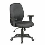 Lorell Ergonomic Chair - with Arms - 27 -1/4''W x 25 -1/2''L x 41 -1/2''H - Black [LLR86903-FS-SP]