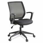 Lorell Executive Chair - Mid Back - 26''W x 27''L x 40 -3/4''H - Mesh/Black [LLR84868-FS-SP]