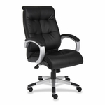 Lorell Executive Chairs - 27''W x 32''L x 44 -1/2''H - Base/Arms - Black/Silver [LLR62620-FS-SP]