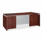 Lorell Executive Desk - 60''W x 30''L - Mahogany [LLR68686-FS-SP]