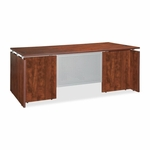 Lorell Executive Desk - 66''W x 30''L - Cherry [LLR68685-FS-SP]