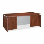 Lorell Executive Desk - Bow - 72''W x 42''L x 29 -1/2''H - Cherry [LLR68681-FS-SP]