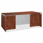 Lorell Executive Desk - Rectangular - 60''W x 30''L x 29 -1/2''H - Cherry [LLR68687-FS-SP]