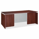 Lorell Executive Desk - Rectangular - 72''W x 36''L x 29 -1/2''H - Mahogany [LLR68682-FS-SP]