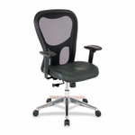 Lorell Executive High -Back Chair - 24 -7/8''W x 23 -5/8''L x 44 -1/8''H - Black [LLR85036-FS-SP]