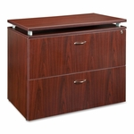 Lorell File - 2 -Draw - with Lock - 36''W x 22 -1/2''L x 30''H - Mahogany [LLR68718-FS-SP]