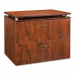 Lorell Ascent File Cabinet - 2 -Draw - with Lock - 36''W x 22 -1/2''L x 30''H - Cherry [LLR68719-FS-SP]