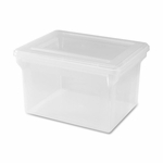 Lorell File Box - Legal/Letter - 13 -4/5''W x 19''L x 11''H - Clear [LLR68925-FS-SP]