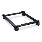 Lorell File Caddy - Adjustable - 11 -3/8'' x 16 -5/8'' x 4'' - Black [LLR17573-FS-SP]