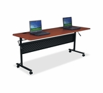 Lorell Flipper Table - 24''W x 72''L x 29 -1/2''H - Cherry [LLR60667-FS-SP]