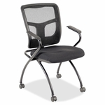 Lorell Guest Chair - 24''W x 24''L x 37''H - Black - Set of 2 [LLR84374-FS-SP]