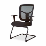 Lorell Guest Chair - Mesh Fabric - 27''W x 27 -1/2''L x 41''H - Black [LLR86202-FS-SP]