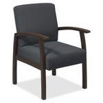 Lorell Guest Chairs - 24''W x 25''L x 35 -1/2''H - Expresso/Charcoal [LLR68555-FS-SP]