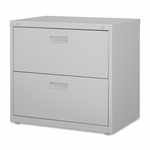 Lorell Lateral File - 2 -Drawer - 30''W x 18 -5/8''L x 28 -1/8''H - Light Gray [LLR60558-FS-SP]