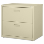 Lorell Lateral File - 2 -Drawer - 30''W x 18 -5/8''L x 28 -1/8''H - Putty [LLR60556-FS-SP]