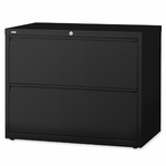 Lorell Lateral File - 2 -Drawer - 36''W x 18 -5/8''L x 28 -1/8''H - Black [LLR60555-FS-SP]