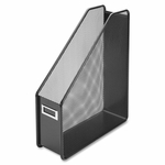 Lorell Magazine Holder - Steel - 10''W x 3 -1/8''L x 12 -1/4''H - Mesh/Black [LLR84152-FS-SP]