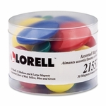 Lorell Magnets - 30 - 12 Sm/12 Md/ 6 Lg - Assorted [LLR21557-FS-SP]