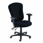 Lorell Managerial Task Chair - 26 -3/4''W x 26''L x 48 -1/4'' -51''H - Black [LLR66153-FS-SP]