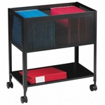 Lorell Mesh Rolling File Cart [LLR60175-FS-SP]