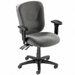 Lorell Mid - Back Task Chair - 26 -3/4''W x 26''L x 39 -1/4 -42''H - Gray [LLR66125-FS-SP]