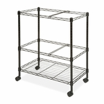 Lorell Mobile Filing Cart - 2 -Tier - Letter/Legal - 26''W x 12 -1/2''L x 30''H - Black [LLR45650-FS-SP]