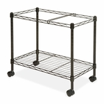 Lorell Mobile Filing Cart - Letter/Legal - 25 - 3/4''W x 12.9''L x 20 -1/2''H - Black [LLR45651-FS-SP]