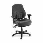 Lorell Multi -Task Chair - High -Back - 26 -7/8''W x 28''L x 44''H - Gray [LLR81100-FS-SP]