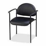 Lorell Reception Guest Chair -23 -3/4''W x 23 -1/2''L x 30 -1/2''H -Black Vinyl [LLR69507-FS-SP]
