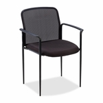 Lorell Reception Side Chair -23 -3/4''W x 23 -1/2''L x 33''H -Black [LLR69506-FS-SP]