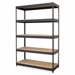Lorell Riveted Steel Shelving - 48''W x 18''W x 72''W - Black [LLR61622-FS-SP]