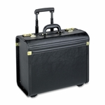 Lorell Rolling Laptop Catalog Case - 22'' W - Black [LLR61613-FS-SP]