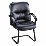 Lorell Tufted Leather Series Guest Chair [LLR60114-FS-SP]
