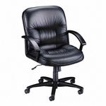 Lorell Tufted Leather Series Managerial Mid Back Chair [LLR60115-FS-SP]