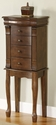 Louis Phippe Jewelry Armoire in Walnut