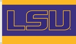 Louisiana State Tigers 3' X 5' Flag with Grommets - Logo Design [95215-FS-BSI]