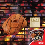 Louisiana State University Fan Brands 2 Pc 2'' x 2'' [13152-FS-FAN]