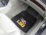 Louisiana State University Heavy Duty 2-Piece Vinyl Car Mats 18'' x 27'' [8747-FS-FAN]