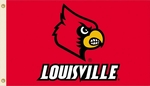 Louisville Cardinals 3' X 5' Flag with Grommets - Mascot Design [95132-FS-BSI]
