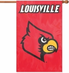 Louisville Cardinals Applique Banner Flag [AFLOU-FS-PAI]