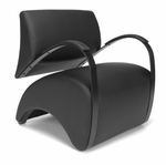 Recoil Lounge Chair - Black [841-PU606-FS-MFO]