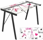 Love in Paris Office Desk [OFD-TM-PGPARIS-FS-LUMI]
