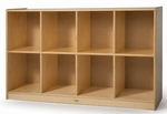 Low Cubby Birch Laminate Storage Unit with Eight Spacious Cubbies [WB9972R-FS-WBR]