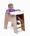 NewWave Low Highchair with Removable Tray and Foot Rest [WB0031-FS-WBR]