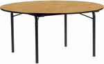 6000 Series Traditional Round Folding Table with Laminate Top and Char Black Frame - 60'' Diameter x 29''H [6060R-VCO]